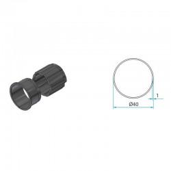 Adaptateur pour tube rond 40mm