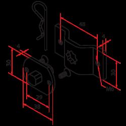 Support axe carré et oméga