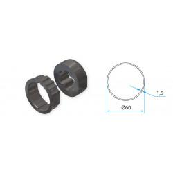 Adaptateur pour tube rond 60mm